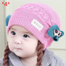 Infant Baby Knitted Caps Kids Winter Crochet Hat Handmade Beanie Toddler Caps