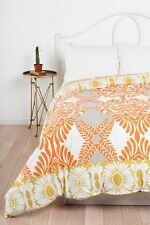 Urban Outfitters Vine Flourish Duvet Cover by Magical Thinking Twin XL Orange