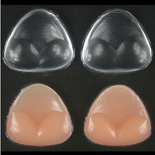 Triangle Pads Silicone Swimsuit Breast Bra Cleavage Enhancer Push Up Bra Insert