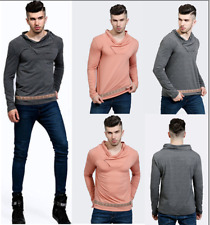 Mens Long Sleeve Piles Collar Loose Cotton Shirts Casual Party Basic Tee Blouse