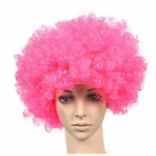 Set of 2 Halloween Costume Party Wigs Clown Hair, Pink