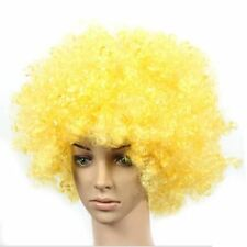 Set of 2 Halloween Costume Party Wigs Clown Hair, Yellow