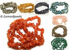 """Natural GEMSTONE 36"""" Strand Crystal Tumble Chip Beads 5-9 mm (Approx 300 Beads)"""