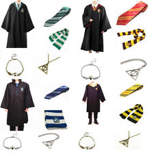 Adult Child Harry Potter Gryffindor Robe Cloak Costume Cape Tie Scarf Cosplay US