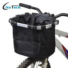 Pet Basket Carrier Bike Car Seat Gear Aluminum Dog Cat Travel Solvit Bicycle New