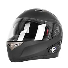 Double Lens Bluetooth Motorcycle Helmet With FM Radio BuiltIn BT Intercom System