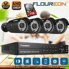 FLOUREO 8CH 1080N DVR 3000TVL Outdoor CCTV Video Home Security Camera System 1TB