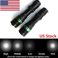 US 3000LM CREE Q5 AA/18650 LED Zoomable Flashlight Torch Light Lamp Focus Bright