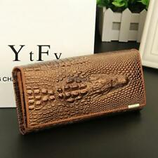 Women 3D Texture Bifold Long Wallet Multi-pocket Purse Money Cards Holders LM 01