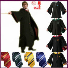 HOT Adult Child Harry Potter Gryffindor Robe CloakCostume Cape Tie Scarf Cosplay