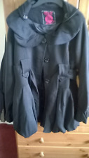 WOMANS COAT/JACKET  BLACK  COLOUR **BRAND NEW WITHOUT TAGS** SIZE 12.