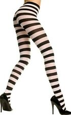 Music Legs Gothic Goth Punk Wide Stripes Black & White Pantyhose Tights