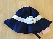 NWT Gymboree Marina Party Rosette Sunhat Hat 3-6M Chin Strap Baby Easter