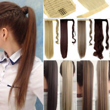 US Pony Ponytail Extension Clip in Wrap Around as Human Natural Thick Long TM2