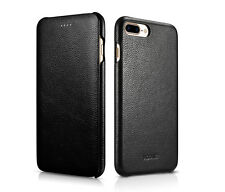 Luxury Flip 100% Genuine Real Leather Case pouch Cover For Apple iPhone 8 & Plus