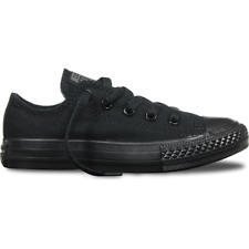 New Converse All Star Low Youth - Black Monochrome