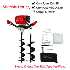 """52cc Gas Powered Post Hole Digger 6""""+10"""" Earth Auger  Digging Machine 2.2HP New"""