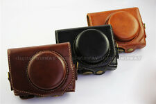 New PU Leather Camera Case Cover Bag Pouch with Strap For Canon Powershot G7X