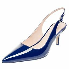 Womens Pointed Toe Slingback Patent 6.5CM Middle Heel Party Stiletto Pumps Shoes