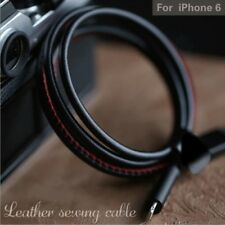 3FT Leather USB Data Data Cable Data Sync Cord Fast Charger Sync Charger Cable