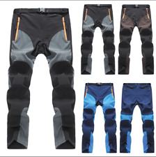 Mens Quick Dry Waterproof Thin Hiking Climbing Casual Pants Sport Combat Trouser