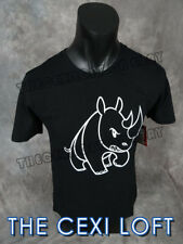 Mens ECKO UNLTD Brand T-Shirt Bad Baby Rhino in Black Roar w/ Class