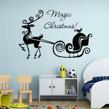 Magic Christmas Deer Wall Stickers Decals Home Decor Art Removable Vinyl Mural