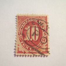 "1~VTG~ 10 Cents U.S. Postage Stamps ""POSTAGE DUE"" #J-19 Used Red Brown"
