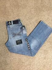 NWT ROCK & REPUBLIC RELAXED STRAIGHT FIT 'MAGNIFY' JEANS BLUE WASH MSRP $88