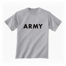 US ARMY TEE  PHYSICAL TRAINING P. T. T-SHIRT GREY/GREEN