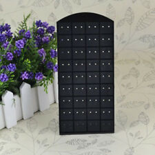 24/48/72 Holes Plastic Jewelry Earrings Holder Display Stand Rack Well