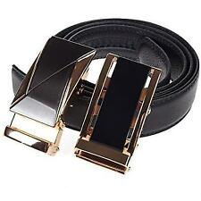 Mens Leather Belt Ratchet Comfort Click Dress Automatic Buckle(+1 Free) Gift Box