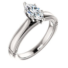 925 Silver 1.8CT White Topaz Women Jewelry Wedding Engagement Ring Party Sz6-10