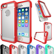 For iPhone 5 5s SE Crystal Clear Hybrid Ultra-thin Bumper Hard Back Case Cover
