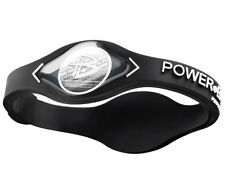 POWER BALANCE NEGATIVE ION PERFORMANCE BRACELET- BLACK / WHITE LETTERS