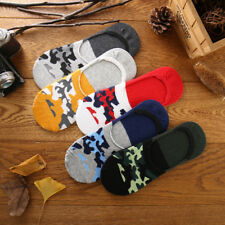 1 Pairs Men Non-slip Silicone Comfortable Camouflage Boat Socks Liner Low Cut