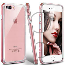 For Apple iPhone 8 / 8 Plus PC Shockproof Frame Bumper Clear TPU Back Case Cover