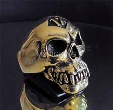 BIKER COSTUME RING ONE PERCENT ZOMBIE SKULL RENEGADE OUTLAW BRONZE ANY SIZE