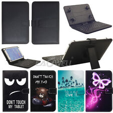 "PU Leather Micro USB Keyboard Case Stand Cover for 7"" 8"" 10.1"" Android Tablet"