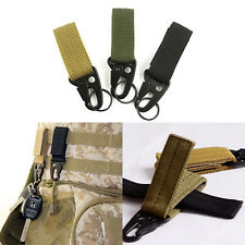 Military Nylon Key Hook Webbing Molle Buckle Hanging Belt Carabiner Clip New 7Xb
