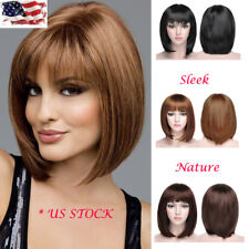13.78' Women Ladies Short Straight Natural Wigs Hair Bob Synthetic Cospaly Party