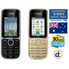 Brand New Nokia C2-01 3.15MP Camera Unlocked Mobile Phone Black Gold