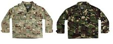 Kids Army Military Style Camouflage Camo Padded Jacket Coat Fancy Dress Roleplay