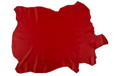 ITALIAN Lambskin Leather Hide Skin, Skins Hides Nappa RED