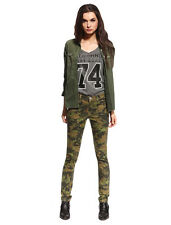 Womens Skinny Camo Jeans Military Ware Colored Camouflage Hotpants Army Pants
