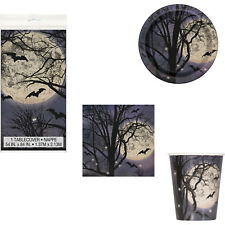 Halloween Spooky Night Party Tableware Tablecover Plates Cups Napkins