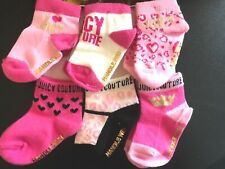 6 Pairs / 3 Pairs Juicy Couture socks infant baby 0-6 month Pink Gold SET 42$