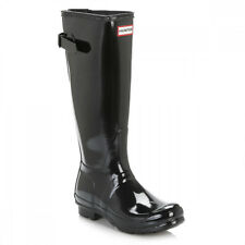 Hunter Original Womens Adjustable Black Gloss Tall Wellington Boots