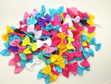 100 Pcs Bows Grosgrain Ribbon Mixed 35mm x 22mm Hair Bow Embellishment Craft