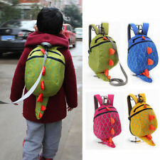 Toddler Kids Child Schoolbag Cute Dinosaur Harness Leash Shoulder Bag Backpack